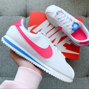 Nike Cortez white pink 5.5 shoes sneakers